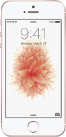 Imagen frontal de Apple iPhone SE